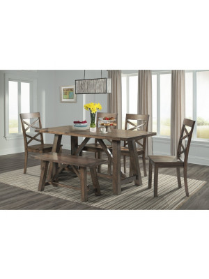 Renegade Dining Table, 4 Chairs, & Bench