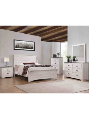 Coralee White Queen, Dresser, Mirror, & Nightstand