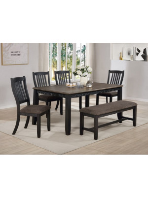 Jorie Dining Table, 4 Chairs, & Bench